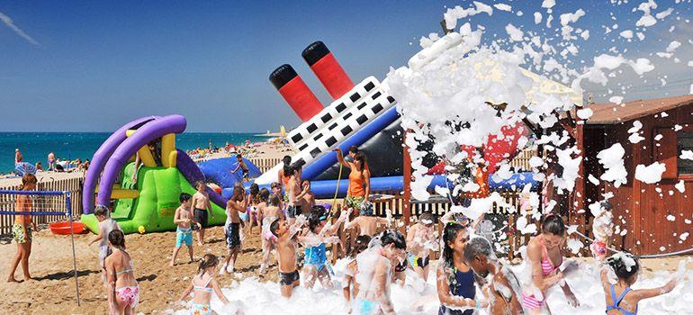 Детский мини клуб на пляже